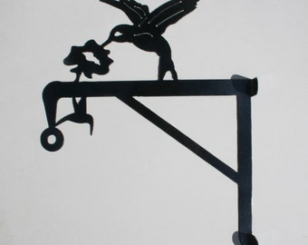 Hummingbird plant hanger - Bird feeder hanger