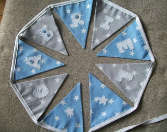 Beautiful Personalised hand made Bunting - Christening, New Baby , Birthday, Decoration- made to order