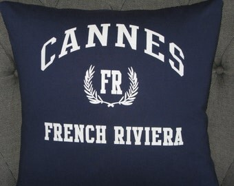 Cannes, French Riviera T-Shirt Throw Pillow