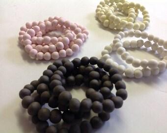Hand made porcelain bead bracelet