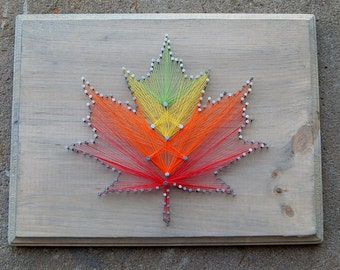 Fall Leaf String Art