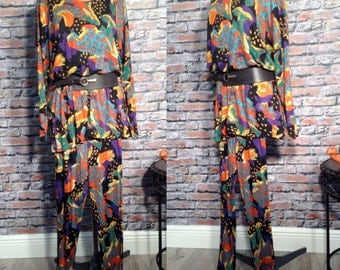 Vintage CHACOK Tunic And Leggings Set  Made In France