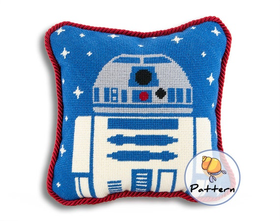 Modern Cross Stitch Pillow Kits : Star Wars Needlepoint Pattern R2D2 Needlepoint Contemporary