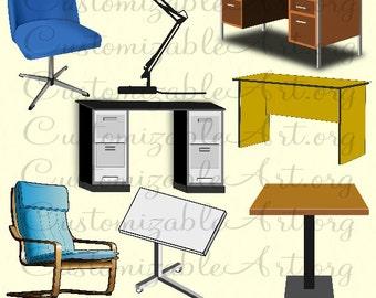 Schreibtisch büro clipart  Schreibtisch clipart | Etsy