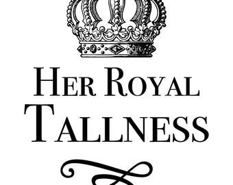 Her Royal Tallness Series | giraffe, crown, tall women, tall art, confidence, wall art, home decor, royalty, wall art, home decoration