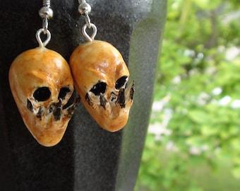 Old Creature Skull Earrings