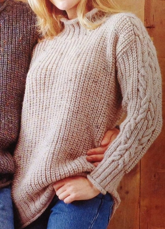 Knitting Pattern Boys/Girls/ Ladies/Woman's/Mens Aran ...