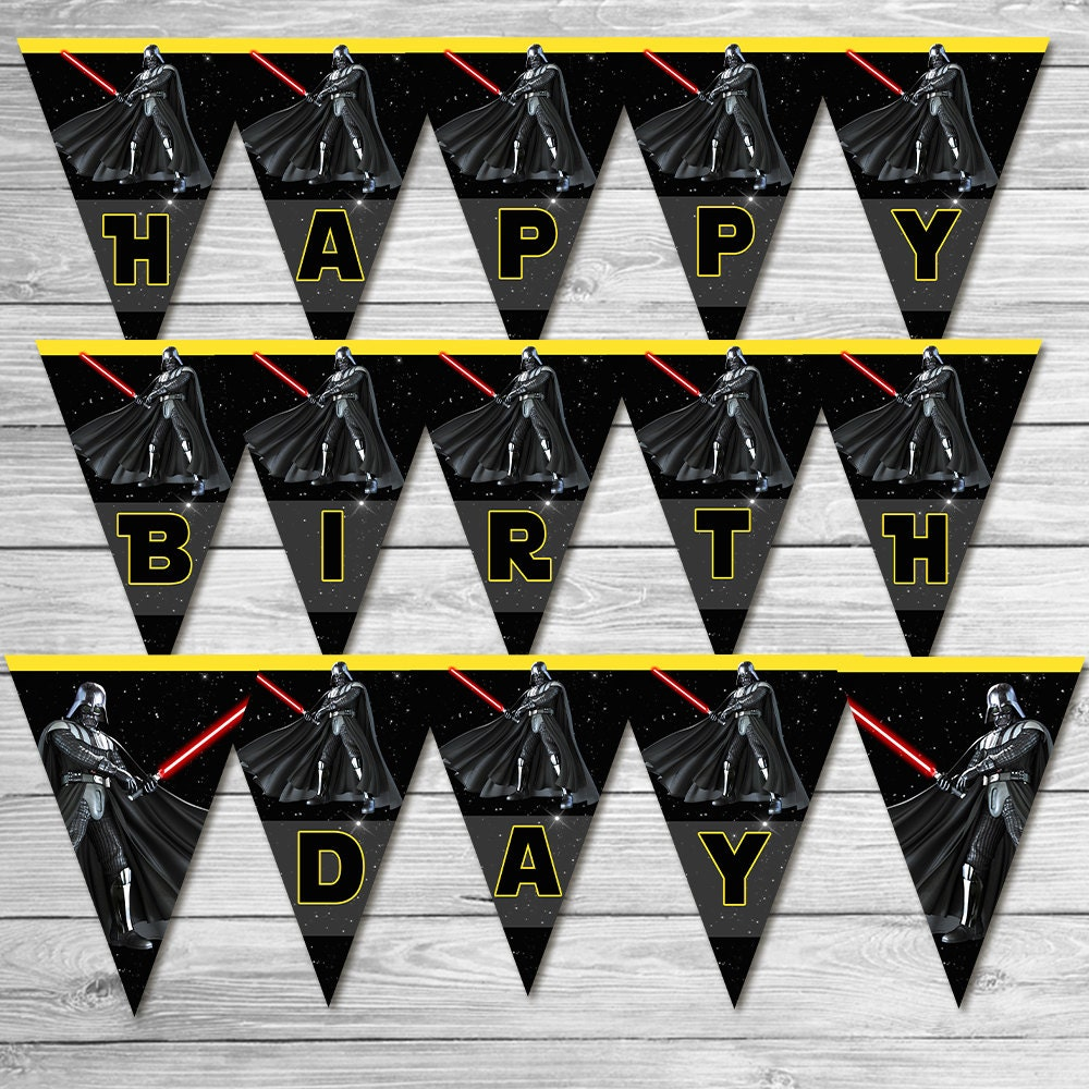 star wars happy birthday banner darth vadar star wars