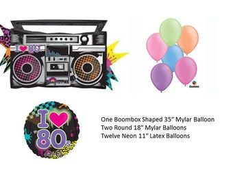 Boombox Balloon Set