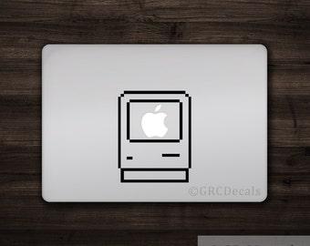 Mac Computer Icon - Mac Apple Logo Cover Laptop Vinyl Decal Sticker Macbook Unique Vintage Classic Finder