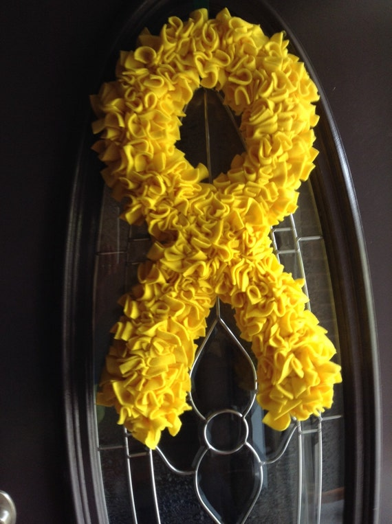 Yellow Ribbon Support The Troops Wreath Deployment Wreath