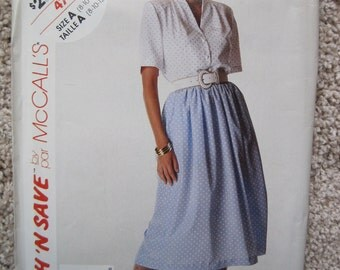 UNCUT Misses Blouse and Skirt - Size 8 to 12 - McCalls Pattern 4719 - Vintage 1990