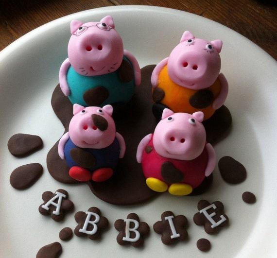 Edible Cake Images Peppa Pig : Handmade edible Peppa Pig Cake Topper