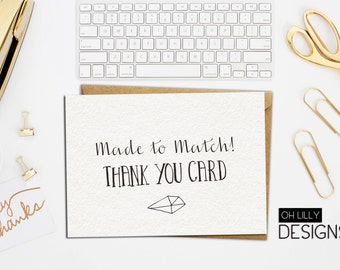 Made to Match - Thank you card