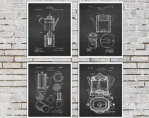 Kitchen Wall decor set of 4 prints  Cafe Decor, Diner Decor, Coffee wall art, Cafe wall decor, coffee shop decor, Gift for her