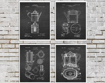 Coffee gift, Coffee decor set of 4 prints  Cafe Decor, Breakfast Bar Decor, Coffee wall art, Cafe wall decor, coffee shop decor