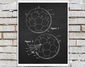 Soccer Ball Poster Patent print #1 Black & White Chalkboard Patent art, Gift for Soccer Mom, Boys Bedroom Art, Soccer Poster Soccer Decor