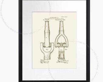 Fire Hose poster Firefighter print #A3 Fire Department Decor Fireman gift. Firefighting Patent Art Print, Cream Color Boys Room Art,