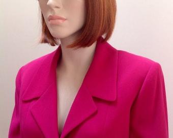 90s Celine Paris fuchsia jacket FR 42