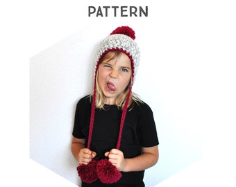 The Crochet Pom Pom Peruvian Hat Pattern, crochet pattern, step by step tutorial, phototurial, all sizes, permission to sell finished item