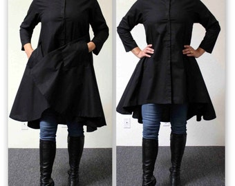 Boho, Country, Western all Cotton Designer Hi Low Plus Size and Regular size shirt. XL 1XL,2XL,3XL