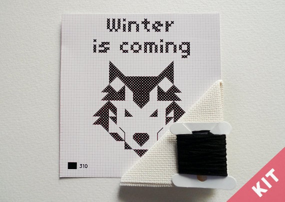 Mini Cross Stitch Kit - Game of Thrones