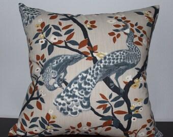 Grey Blue Brown Pillow Cover Decorative Pillow Accent Pillow Sofa Pillow Toss Pillow Throw Pillow- Pillow Cushion