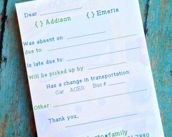 Mom Notepad - Notes For School - School Notepad - School - Notes From Mom
