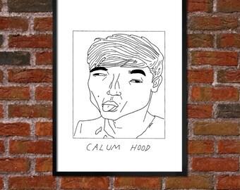 Badly Drawn Calum Hood - 5SOS - Poster