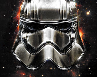 Star Wars The Force Awakens Captain Phasma inspired design | KoLabs | signed premium quality giclée print