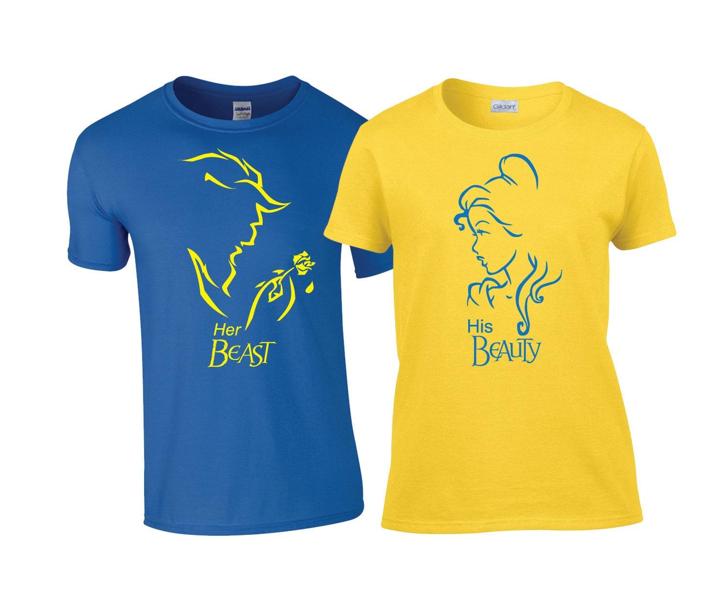Disney Beauty and the Beast Matching Couples Shirts an by ...