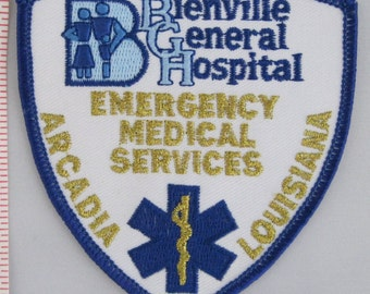 Bienville General Hospital EMS Sew On Patch - Emergency Service Patrol Sew-On Patch - Paramedic Sew On Patch - Embroidered Applique Patch