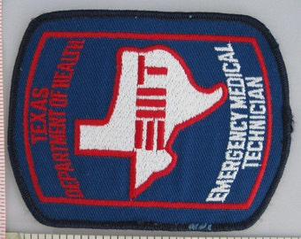 Texas Department of Health Emergency Medical Technician (EMT) Sew On Patch - EMS Sew-On Patch - Paramedic Patch - Embroidered Applique Patch