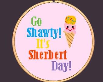 Ice Cream Cross Stitch Pattern Funny Needlepoint: Buy 2 Patterns Get 1 FREE!