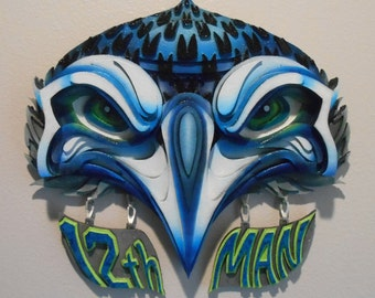 Seattle Seahawks 12th Man Mixed Media Wall Art