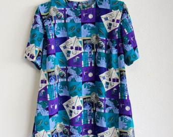 Vintage Plus Size Patterned Shirt