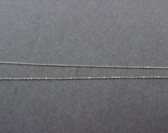 sterling silver chain, 10 feet, 1.4mm flat cable chain, necklace chain, cable chain, silver cable chain, silver necklace chain, chain
