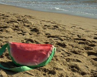 Summer is here! Hand made watermelon bag to always celebrate summer! / gift under 20 / bag for her / summer bag
