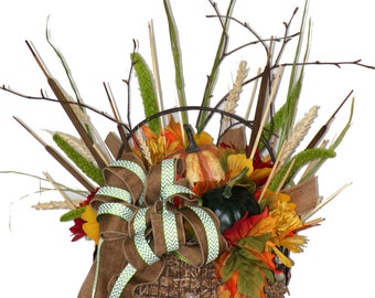 Bountiful Fall Basket Centerpiece