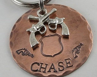 Crossed Gun Dog Tag,Dog Id Tag,Dog name Tags,Dog Tags for Dogs,Personalized Pet Tags,Dog Collar Tags,Custom Pet Tag,(1.25 inch Dog Tag)