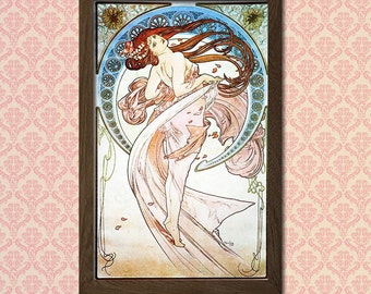 "Alphonse Mucha Poster Art Nouveau Print ""Dance"" 1898 - Alphonse Mucha Print Art Nouveau Poster Mucha Poster Mucha Print Gift Idea"