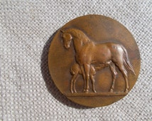 French Agricultural Medal,Mare and Foal Medal,Epona, Celtic Goddess, French Bronze Medal,