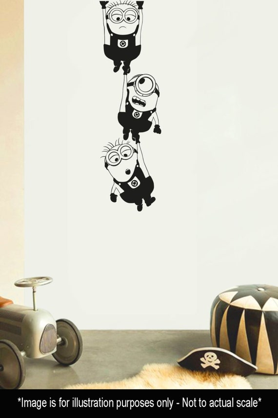 Minion Hanging Wall Decal Sticker Vinyl Transfer Decal - Minion wall decals