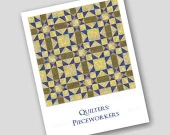 FUN GIFT for Quilters & Friends that sew - Set of 2 Notecards OR a Print for the Sewing Room Q2015030)