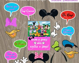 Minnie Mouse Photo Booth Props, Minnie Mouse Birthday, Minnie Mouse Party, Minnie Mouse Props
