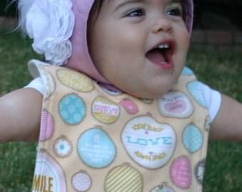 Smile Baby Bib // Baby Girl Bib // Gift for Baby