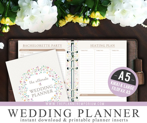 A5 Ultimate Wedding Planner Organizer Kit - Instant ...