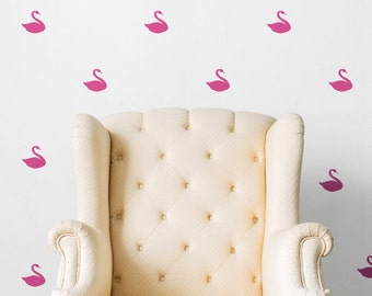 Swan Pattern Animals Kids Nursery | Removable Wall Decal Sticker | MS173VC