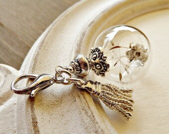 Jewel Pendant Dandelion Tassel