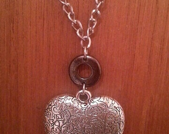 Sale! Silver Heart Necklace